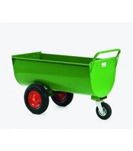 Stalen voederwagen 250 ltr GROEN