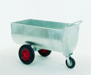 Voerwagen verzinkt, met ronde bodem, 250 ltr