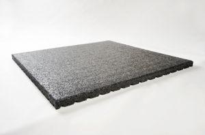 Granuflex paarden staltegel rubber, vochtdoorlatend 100x100x4 cm