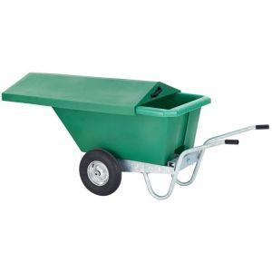 Voerwagen / kiepkruiwagen 330 liter met schuifdeksel