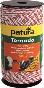 Tornado schrikdraad 200 mtr, wit oranje 1xCu 5xRVS