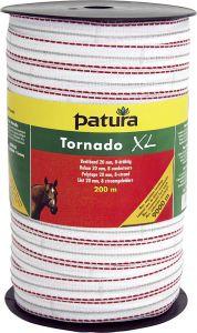 Tornado XL lint 20 mm wit/rood, 200 meter rol