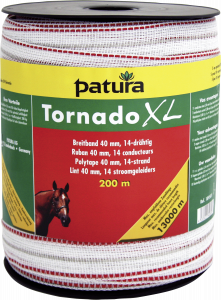 Tornado XL lint 40 mm wit/rood, 200 meter