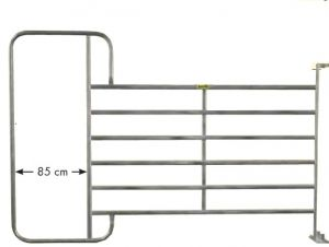 Paneelhek met frame XL, 3,05 x 2,10 mtr.