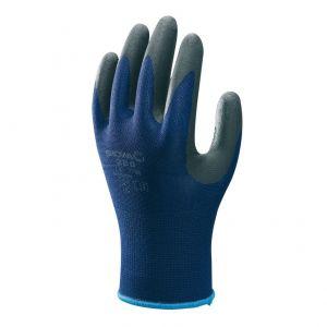 Handschoen SHOWA 380 Foam grip Pro zwart/blauw mt M