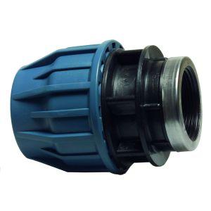 PE Tyleenkoppeling + binnendraad 20mm x 1/2