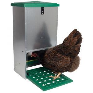Automatische klepvoerbak voor kippen, 20 kg