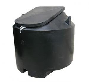 Krachtvoerbak 1000 ltr /600 kg met deksel