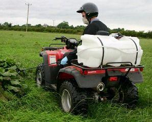 DuoSpuit 12 Volt elektrische quad veldspuit, 55 liter