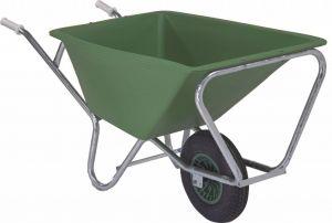Groene stal kruiwagen Fort 160 liter, GROEN