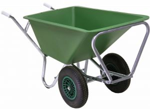 Tweewielige stal- en voerkruiwagen, 160 liter