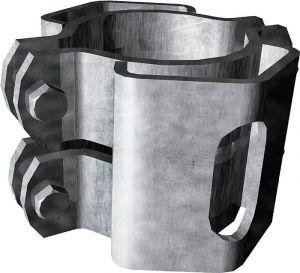 Zadelklem d=102 mm, 2 grendelhouders RS1 klem