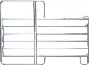 Paneelhek met poort, gegalvaniseerd, 2,20 x 3,60 mtr.