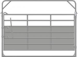 Paneelhek met draaipoort PLUS, 3,18 x 2,45 mtr