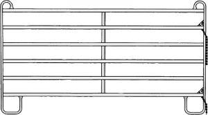 Paneelhek-6 gegalvaniseerd 2,40 x 1,70 mtr.