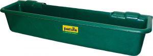 Lange kunststof voerbak, 50 l, groenom op te hangen aan buizen tot 2