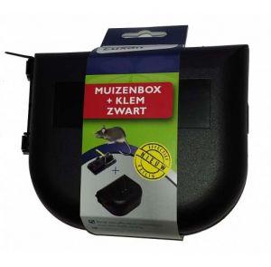 Muizenval muizenbox + muizenlem Zwart