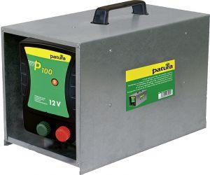 P100, schrikdraadapparaat voor 12 V batterij met draagbox