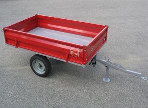 Kiepwagen voor minitrekkers, 1000 kg hydraulisch kippend