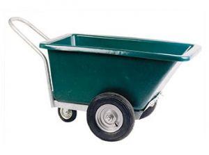 Driewielige kruiwagen 255 liter, met zwenkwiel