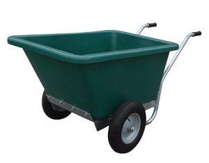 Tweewielige kruiwagen 255 ltr met vaste bak