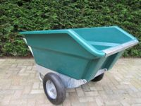 Tweewielige kiepkruiwagen 400 ltr,  GROEN