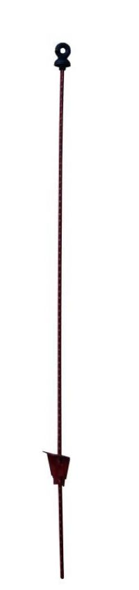 Rantsoenpaal ovaal met ringisolator 105 cm