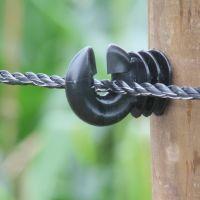 Schrikkoord zwart, 200 mtr 6 mm 6*0,3 Inox + 3*0,25 Cu