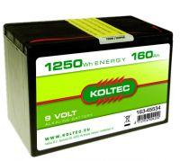 Batterij 9 Volt - 1250 Wh 160 Ah, alkaline