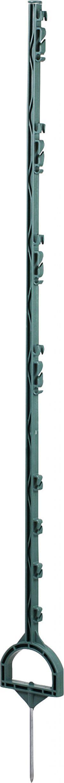 Stijgbeugelpaal groen 1,55 m 8 draadhouders, 10 stuks