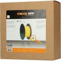 Knock Off Vliegenlint Vervangingsrol geel 400 m