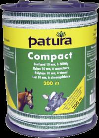Compact lint 10mm wit/groen, 400 meter rol