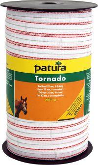 Tornado lint 12,5mm wit/oranje 200m rol