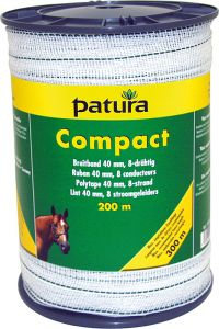 Compact lint 40 mm wit/groen, 200 meter rol