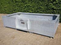 Gegalvaniseerde waterbak 1650 liter, stalen weidedrinkbak