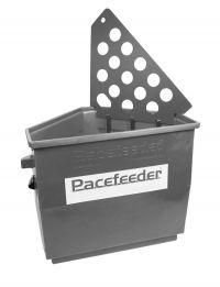 Pacefeeder XL grijs, paarden slowfeeder - stal en weide model