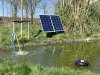 Solar vijverpomp met 2 x 115 Watt zonnepanelen. Vijverpomp op zonne-energie. Solar vijverpomp 2 x 115 Watt.