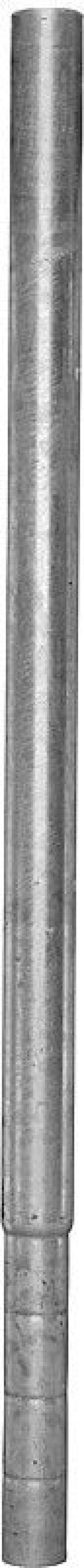 Paal d= 102 mm, L= 1,65 mvoor roostervloer