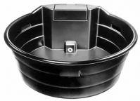 Ronde waterbak zwart met vlotter, 2046 liter