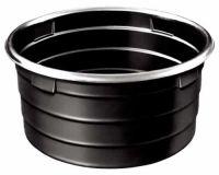 Ronde waterbak zwart zonder vlotter, 675 liter