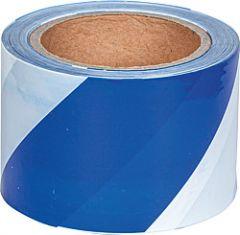 Signaalband blauw-wit, tweezijdig bedruk, 100 m rol