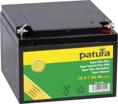 Patura Super-vliesaccu 12V / 32Ah C100 onderhoudsvrije gelaccu