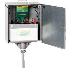 P4500 Schrikdraadapparaat 230V/12V, met veiligheidsbox en aardpen