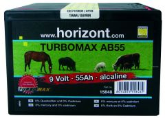 Batterij 9V TURBOMAX AB55
