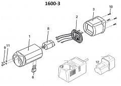 Motor 7,2V DC Liscop 1600