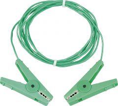 Aardpen verbindingskabel 3 m, groenmet r.v.s. klemmen