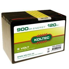 Batterij 9 Volt - 900 Wh 120 Ah, alkaline