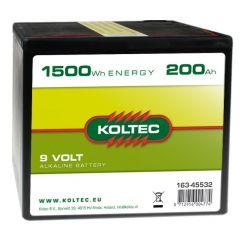 Batterij 9 Volt - 1500 Wh 200 Ah, alkaline