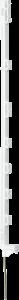 Kunststof paal Compact 1,05 mtr, rasterhoogte 0,85 (10 stuks)