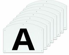 Dressage letters ABCEFHKM 30x20cm